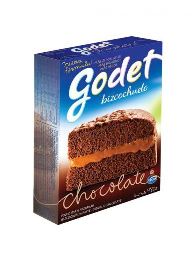 BIZCOCHUELO CHOCOLATE GODET 12X480G